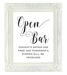 Hey, I found this really awesome Etsy listing at https://www.etsy.com/listing/293498193/open-bar-sign-printable-wedding-sign