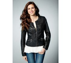 Via Spiga Smocked Leather Jacket I bought this last year and I love it! Rock Chick Style, Rocker Chic, Staple Pieces, Leather Fashion, Smocking, Nordstrom, Leather Jacket, Fashion Outfits, Coat