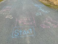 Simple chalk messages can make your day. I was feeling Meh until I moved to the Cha-cha box and danced among the bees! Thank you chalk fairy! More community life photos at www.stowefarm.org