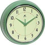 Retro 9-1/2-Inch Round Metal Wall Clock, Green by Infinity Instruments - Classified Ad