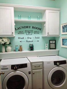 Idea for laundry room