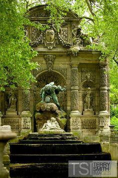 Medici Fountain or Fontaine de Medicis, Jardin du Luxembourg, Paris, France