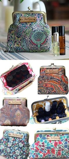 These are my absolute favorite essential oil cases!! They are very well made and have great details (high quality fabric, secure closure, strong elastics to hold each bottle in place, flat bottom so it stays upright in handbag- which helps prevent leaks). If it's possible, they're even more beautiful in person. I have them in several sizes, but the one that I use the most is the small roller bottle case. It holds 8 (10ml) roller bottles. It fits easily in my bag and I always have my…