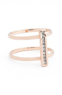 Anna Sheffield 'Licol' Diamond Bar Ring