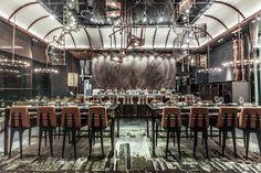 Ammo Restaurant in Hong Kong, designed by Joyce Wang