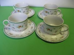 Mikasa China cups and saucers, beautiful and cheerful.  I am hazeleyes767 #teamsellit