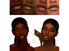 The Sims 4 Clear Lip Gloss By Xxblacksims Sims Hair Sims 4