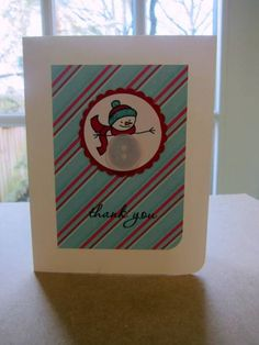 Papertrey Christmas Thank Yous by moster - Cards and Paper Crafts at Splitcoaststampers Super Simple, Holiday, Christmas, Paper Crafts, Stamp, Button, Cards, Ideas, Yule