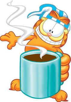 Let me just drink this small cup of coffee. Garfield Pictures, Garfield Quotes, Garfield Cartoon, Garfield And Odie, Garfield Comics, Garfield Wallpaper, Happy Good Morning Quotes, Stitch Games, Funny Phone Wallpaper