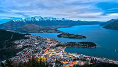 Hopefully going to Queenstown in New Zealand next year for a few weeks to see the way they farm sheep and also hopefully to try ride some of the best mountain bike trails in the world! The mountains in Queenstown are covered in trails! Adventure Town, New Zealand Adventure, Adventure Travel, Auckland, Abel Tasman, Formations Rocheuses, New Zealand Cities, Queenstown New Zealand, Engelberg