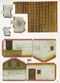 Warhammer Buildings Paper Models - by Dralair - Casa Para RPG Games  Nice buildings with a old school style, by Dralair. Great for dioramas, train sets and RPG games.                                                                                                                                                                                 More