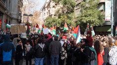 Palestinos en Paseo Ahumada, centro de Santiago.