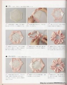 Flowers of the tapes. Talk to LiveInternet - Russian Service Online Diaries Organza Flowers, Fabric Flowers, Ribbon Flower, Ribbon Crafts, Flower Crafts, Craft Flowers, Silk Ribbon Embroidery, Flower Tutorial, Handmade Flowers