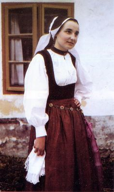 FolkCostume&Embroidery: Costume of Gorenjska, Slovenia Folk Costume, Costumes, Serbia And Montenegro, Folk Clothing, Ethnic Fashion, Slovenia, Traditional Dresses, Fashion Dresses, Fashion Design
