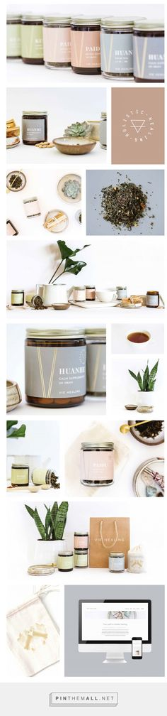 Vie Healing Tea and Supplement Packaging by Designsake Studio