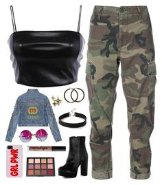 """""""Girl power"""" by tigerlily789 ❤ liked on Polyvore featuring RE/DONE, Boohoo, Gucci, Express, Janis and Charlotte Russe"""