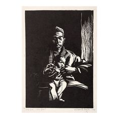 """309 Likes, 4 Comments - INK ON BLOCK (@inkonblock) on Instagram: """"Linocut by William E Smith (American 1913-1997) """"My son! My son!"""" c.1941 . Smith, an African…"""""""