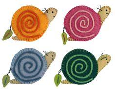 Snail Felted Coin Purse