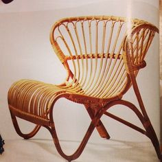 Love this #sika_design chair as seen in @ELLE DECOR #reintroduced #danish #designer #viggo_boesen #fox #chair #wicker @Erin Lumpkin @fromthealley - @thebusyspice