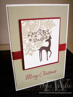 Stampin' Up! Australia - Tina White - Time to Ink Up - Independent Stampin' Up! Demonstrator: 12 Weeks of Christmas #8 - Dasher