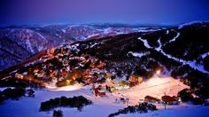Snow Australia - Falls Creek by night.  Victoria #snowaus