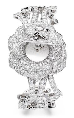 Piaget Rose - Limelight Garden Party watch with case-spring Case in 18K white gold set with 668 brilliant-cut diamonds (approx. 8.7 cts). Silver-coloured dial. 18K white gold bracelet set with 253 brilliant-cut diamonds (approx. 8.5 cts). Piaget 56P quartz movement...