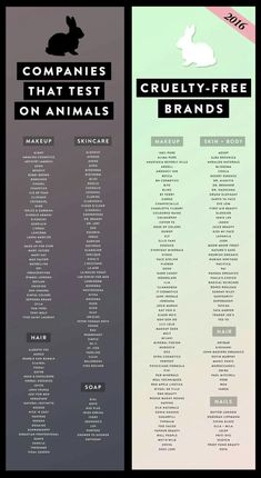 Cruelty Free Products on right.