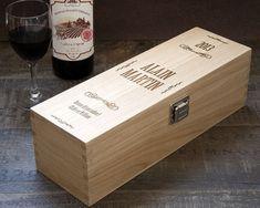 Caisse à Vin Vintage Gravée