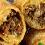 Appetizers - Bacon Cheeseburger Eggrolls