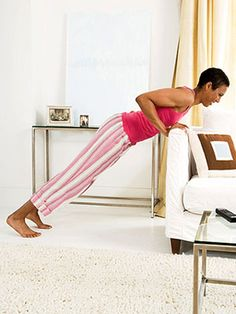 Tone up head to toe in front of the tube -- all before McDreamy returns from commercials! All you need is a couch, a TV remote control, and a throw pillow.