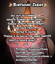 Great Ideas for your next Birthday