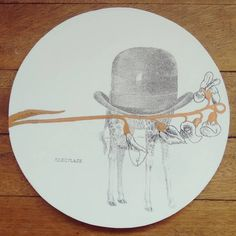 """ Camuflaje "" porta calientes pieza única #Himallineishon #illustration #handmade #art #homedecor"