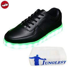 [Present:kleines Handtuch]Schwarz EU 40, Light Led Sport Neu weise Licht Top JUNGLEST® Leuchtende Schuhe High Sneakers Freiz