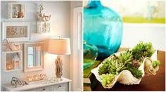 58 DIY summer decorations ideas with natural elements-materials Summer Decor, Beach Diy, Diy Summer Decor, Interior Decorating, Interior, Seasonal Decor, Decor Interior Design, Table Decorations, Interior Design