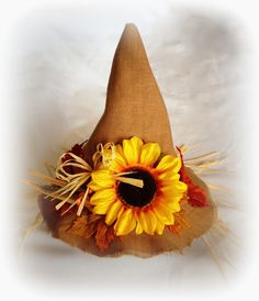 Scarecrow Hat - Custom made to size - Halloween Costume Accessory - Boy or Girl decorations available.