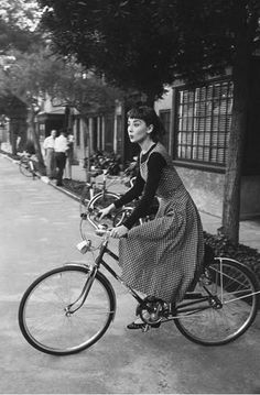 Audrey Hepburn was the epitome of grace and generosity.  She always makes me smile.
