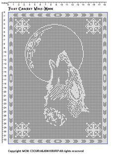 Free Filet Crochet Charts And Patterns Filet Crochet Wolf