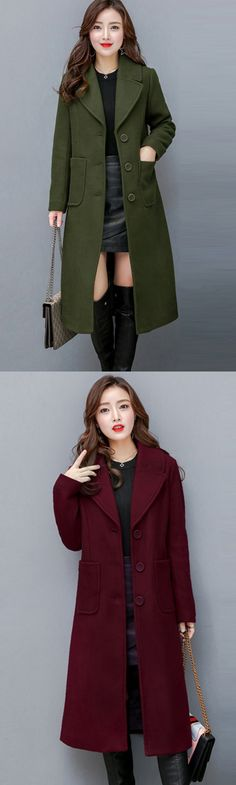 Women's Plus Size Going out Street chic Sophisticated Fall Winter Coat
