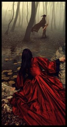 """The huntsman is founded later on in The Grimm's version of Red Riding Hood. He was considered a savior, either a father or husband figure. He is working in the woods when he hears strange snoring sounds coming from the elder lady's home. While inside he finds the wolf, cuts him open to reveal Red and her grandmother inside becoming the """"savior."""""""