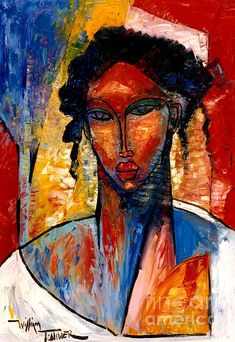 A Nubian Lady Painting by William Tolliver - A Nubian Lady Fine Art Prints and Posters for Sale