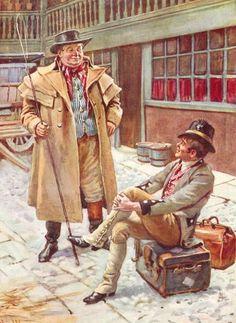 Els Weller, pare i fill, preparats per viatjar a Ipswich.