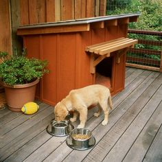 Build a Dog House with One of These Free Plans: Sunset's Free Ranch Style Dog House