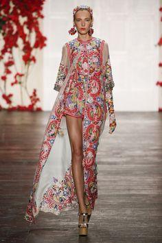 Naeem Khan, New York Fashion Week, Frühjahr-/Sommermode 2016 Fashion Moda, Fashion Week, New York Fashion, Spring Fashion, High Fashion, Fashion Show, Fashion Design, Fashion Trends, Fashion Tv