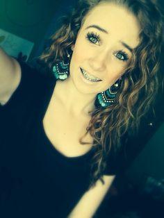 Teen self shot girl with braces