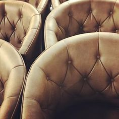 Our buttoned back Rotunda lounge chairs in leather, for a more traditional feel. Lounge Chairs, Hampshire, Traditional, Button, Detail, Leather, Inspiration, Furniture, Instagram