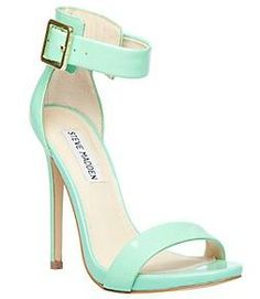 Steve Madden Marlenee Mint Green.  Not that I could wear these for more than 2 hours, but man are they sassy!