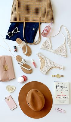 beach essentials (mainly swim suit, sunglasses, sandals, a hat, a good book, and a towel if you're planning on going in the water)