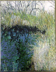 Crystal Pool - Jean Gumpper, woodcut