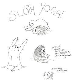 #sloth #yoga