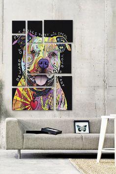 Beware of Pit Bulls 8 Panel Sectional Wall Art on @HauteLook